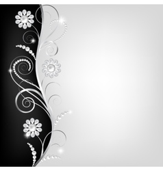Border with pearls vector