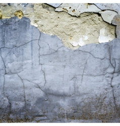 Cracked stucco wall texture vector
