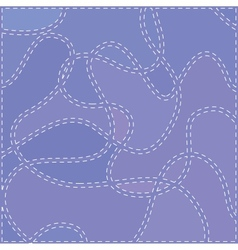 The seams on blue fabric vector