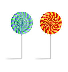 Colorful striped lollipops vector