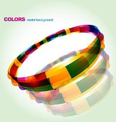 Abstract colorful circular design vector