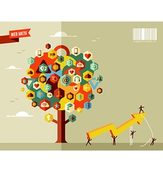 Marketing business tree vector