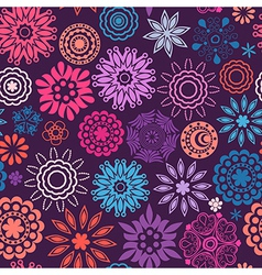 Floral seamless pattern with flowers copy square vector