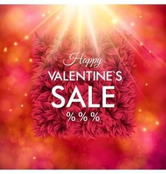 Dynamic happy valentines sale design vector