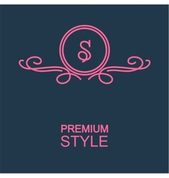 Stylish graceful monogram vector