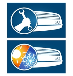 Air conditioning silhouette vector