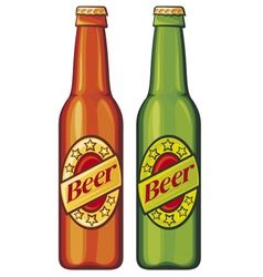Beer beer bottles vector