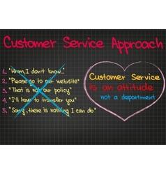 Customer service approach vector