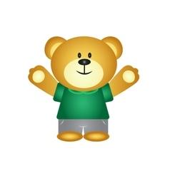 Boy cartoon bear vector