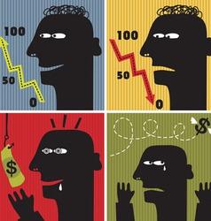 Head silhouette scenarios vector