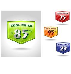Price badge shields vector
