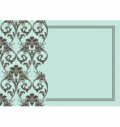 Floral and border vector