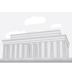 Lincoln memorial center washington dc vector