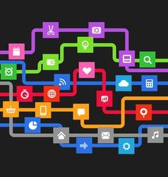 Modern media information abstract scheme vector