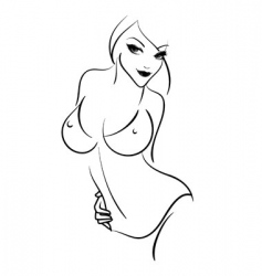 Woman outline vector