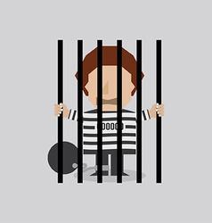 Prisoner in jail vector