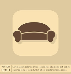Sofa icon symbol furniture icon home interior vector
