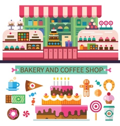 Bakery and coffee shop vector