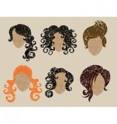 Womans hair vector