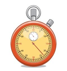 Stopwatch isolated on white vector