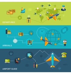 Airport banners set vector