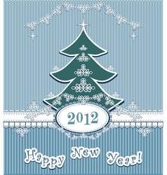 Retro happy new year vector