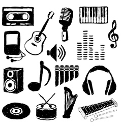 Doodle music images vector