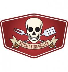 Pirate bbq emblem vector