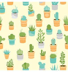 Succulent mix pattern vector