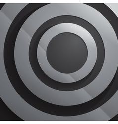 Abstract grey paper circles background vector