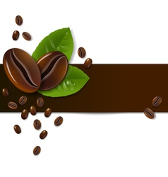 Background of coffee beans vector