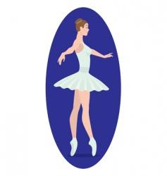 Ballerina figure vector