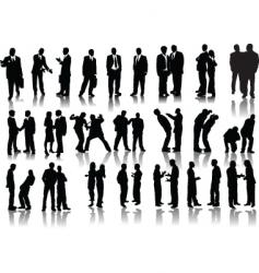 Forty businessmen vector