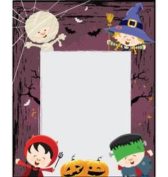 Kids halloween message vector