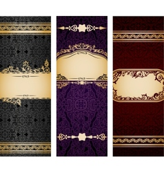 Set of luxury vintage bookmarks vector