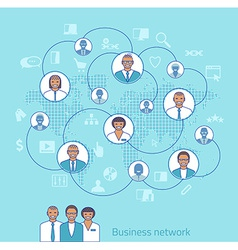 Business network concept of management vector