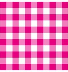 Vintage pink plaid background vector