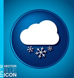 Cloud snow the weather icon vector