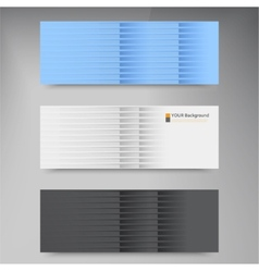 Banners and line color web design vector