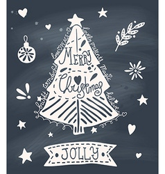 Christmas greeting card with sketchy christmas vector