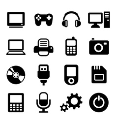 Multimedia gadget icons set vector