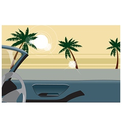 Convertible beach view vector