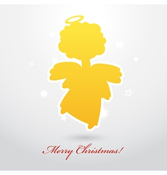 Angel card square 14 vector