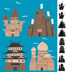 Cartoon castles vector