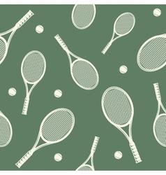 Tennis rackets seamless pattern vector
