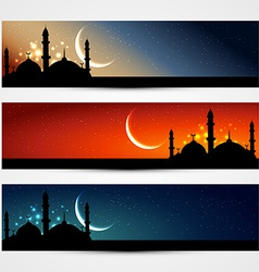 Islamic headers vector