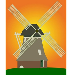Dutch windmill vector