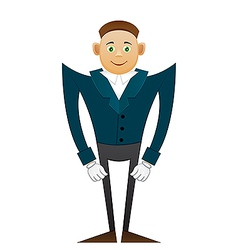 Smile office man in coat vector