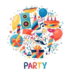 Celebration background with party icons and vector