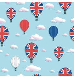 Uk hot air balloon pattern vector
